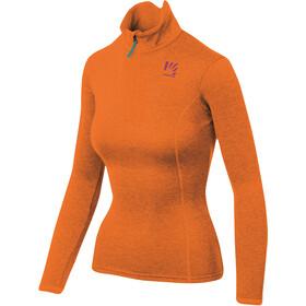 Karpos Pizzocco Maglietta con mezza zip Donna, arancione